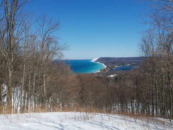 Even if you only make it half way to the top, Empire Bluffs has some of the most breathtaking views.