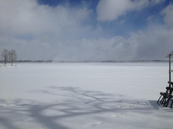Breezy day on Gull Lake