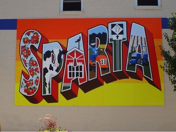 Sparta mural