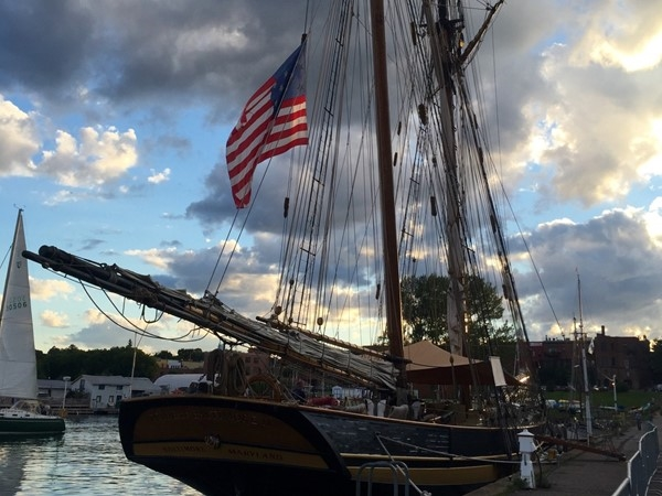 When the large sailing vessels arrive you know it's Harvest Fest time in Marquette's Lower Harbor