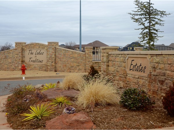 The Lakes at Traditions Estates gated entry