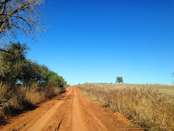 A beautiful fall day for a drive down some of Enid's country red-dirt roads