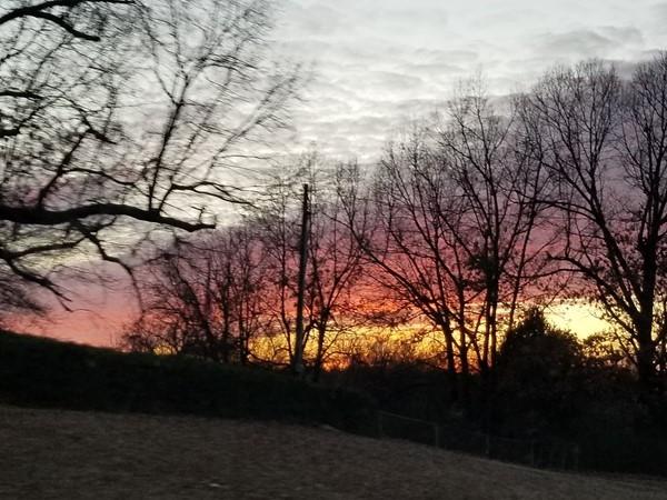 Beautiful sunset in Southeast Oklahoma