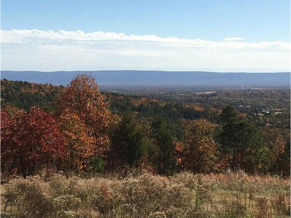 Beautiful view of the fall foliage in Talihina