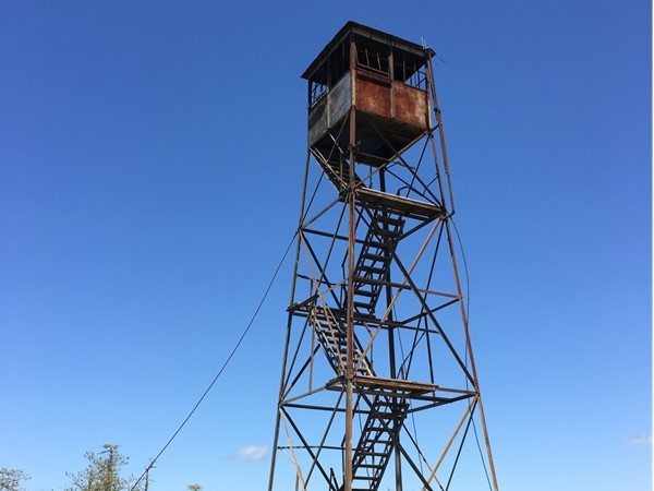 The old fire tower on top of Kiamichi Mountain in Leflore County