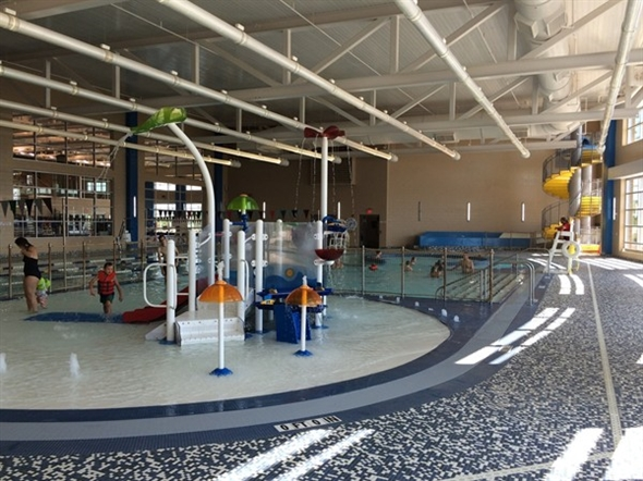 A great indoor pool play area is another feature of the for Garden city ymca pool schedule