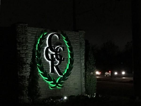 Entrance to Cedar Ridge Country Club