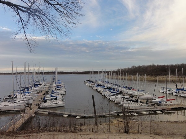 Enjoy a day of sailing at the Red Bud Marina located on Oologah Lake in Rogers County
