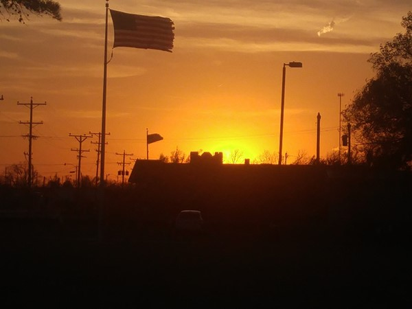 The sun sets on Old Glory in Canute