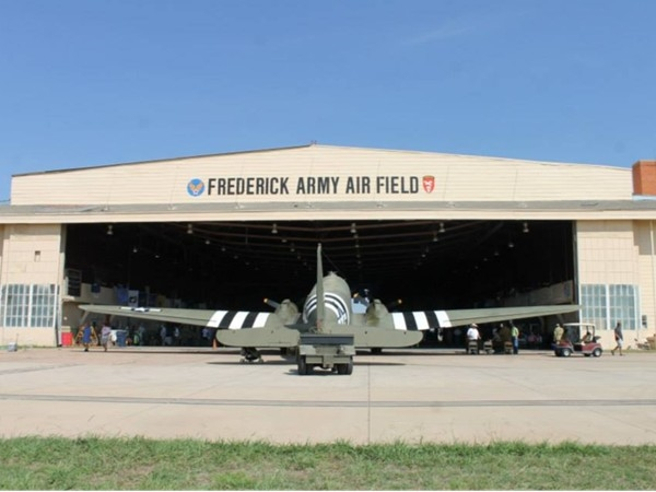 Frederick Army Air Field is home to the WWII Airborne Demonstration Team and  C-47 Boogie Baby