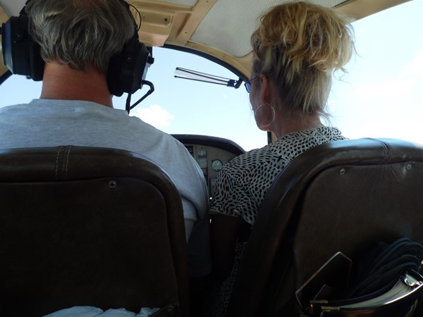 Flying above the crowd at Poteau Airport