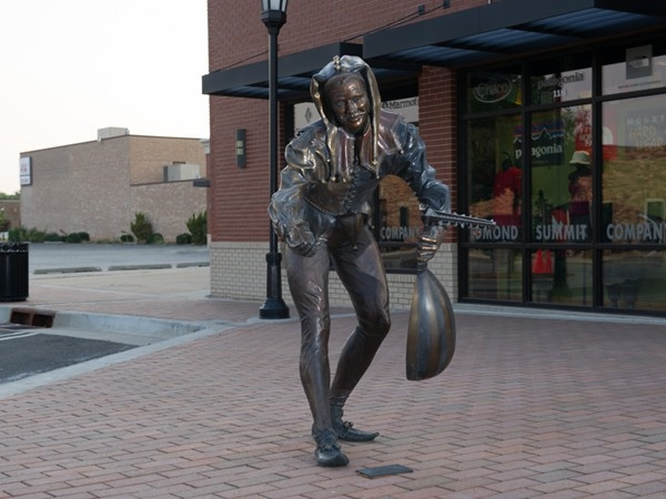 The Music sculpture is one of the many Art in Public Spaces around Edmond
