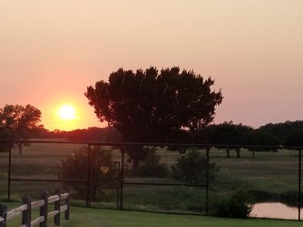Enjoy the beautiful sunset over Elk City