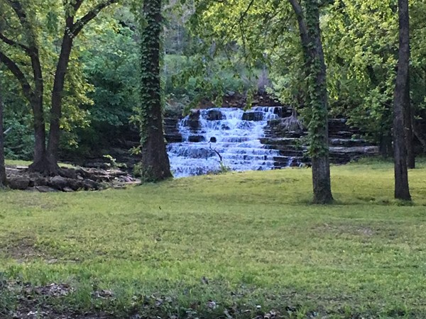 A little rain creates a beautiful waterfall in Dover Pond