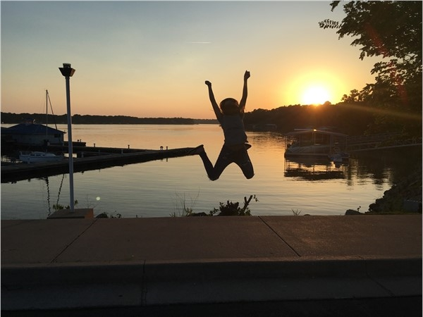 Who wouldn't jump for joy!  Grand Lake O' Cherokees has something to offer everyone