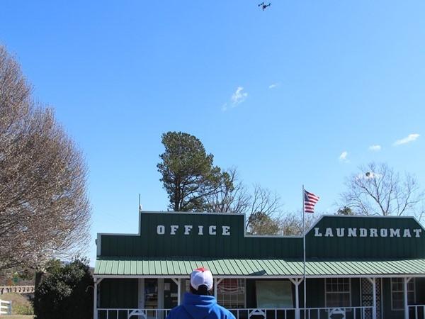 Team Drone practicing at Big Cedar Creek RV Park