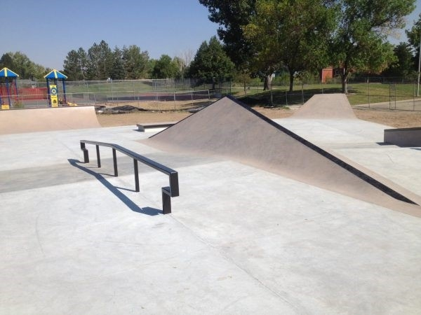 Skate park with play ground