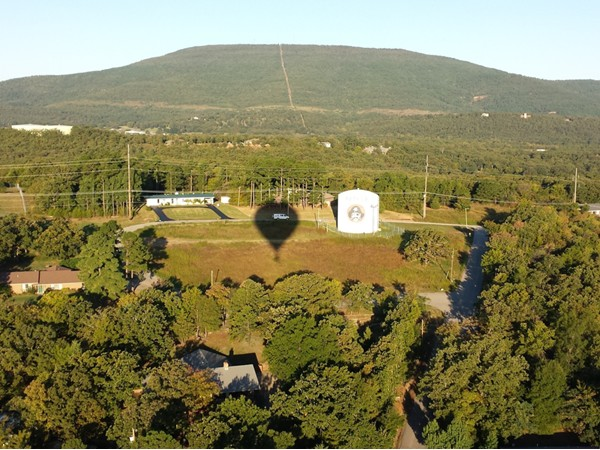 A REMAX hot air balloon view of Poteau's Cavanal, the world's tallest hill