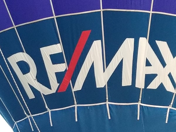 Beautiful day to fly the RE/MAX hot air balloon at the Poteau Balloon fest