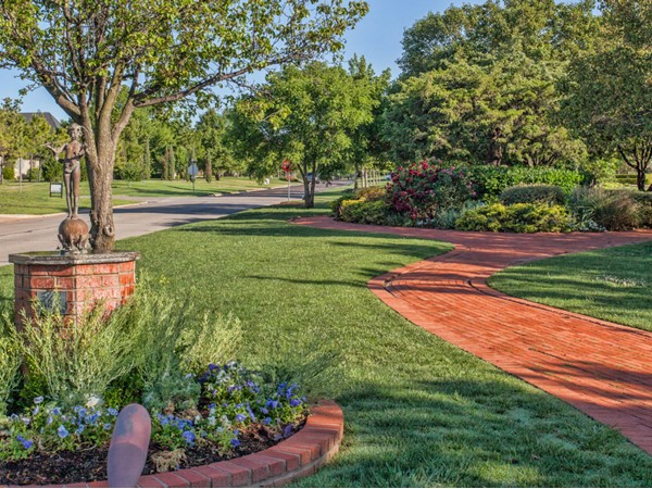 Serene parks in Nichols Hills bend and meander through the landscape