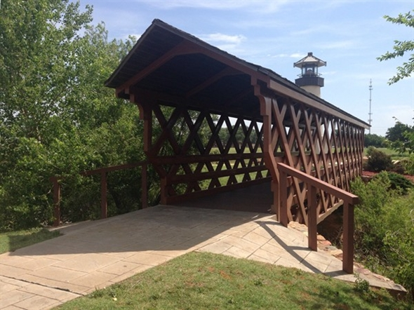 Elk City Park even has a covered bridge