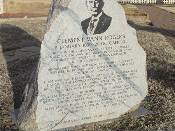 Clement Rogers, for whom Rogers County is named. Visit Oologah located in Rogers Co.
