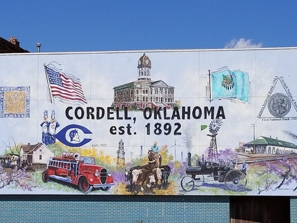 Mural in downtown Cordell