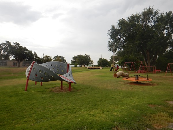 Fun playground at the Cheyenne Drake Memorial Park