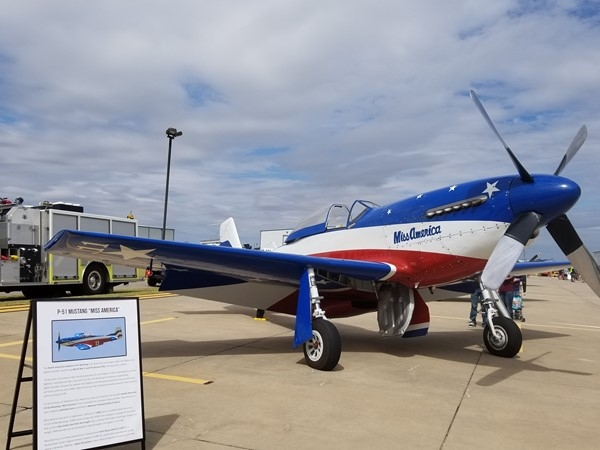 Display of history at Wings Over Weatherford