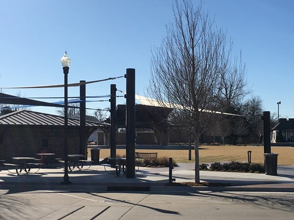 It's a beautiful day at Charlie Young Park in downtown Bixby