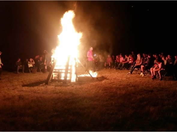 Cool fall nights are perfect for a bonfire