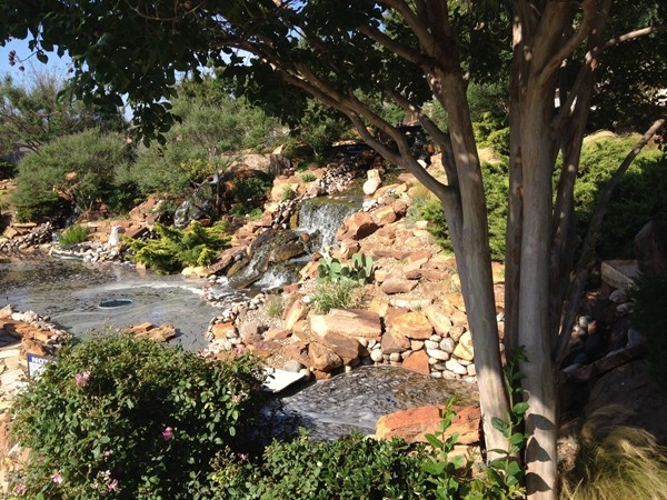 Waterfalls at entrance to community. Great place to sit and watch the fish and ducks!