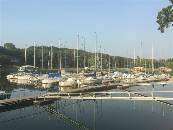 Beautiful view of the sailing club in Grove