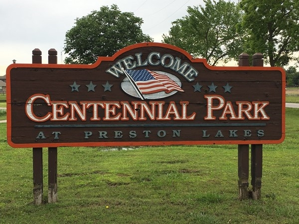 Take a walk in the park at Centennial Park in Owasso, right next to Preston Lakes