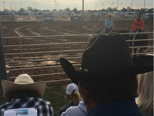 Cowboy church at the high school rodeo in Woodward