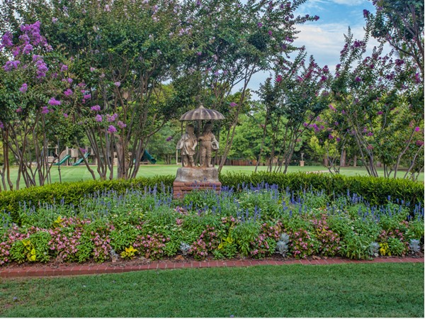 Gorgeous statues and gardens adorn Bixler Park in Nichols Hills