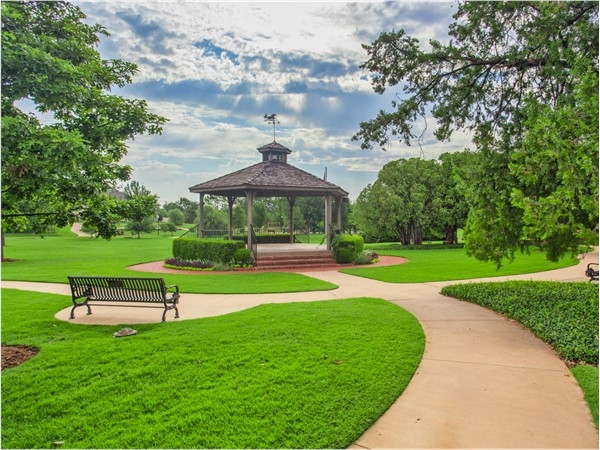 Enjoy playing, working out, or relaxing in Kite Park located in the heart of Nichols Hills