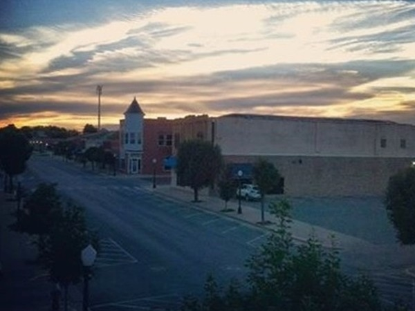 Downtown Broadway at sunset