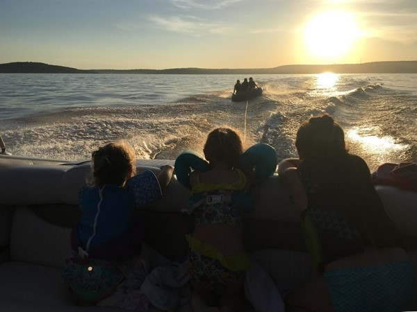 Gotta squeeze in one more ride before the sun goes down at Lake Eufaula
