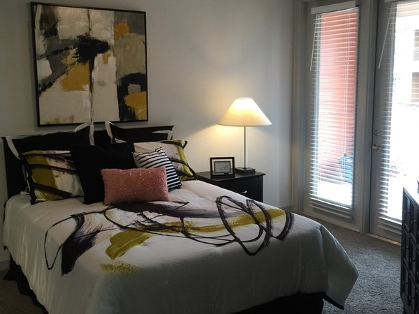 Spacious bedrooms in J Marshall apartment townhomes