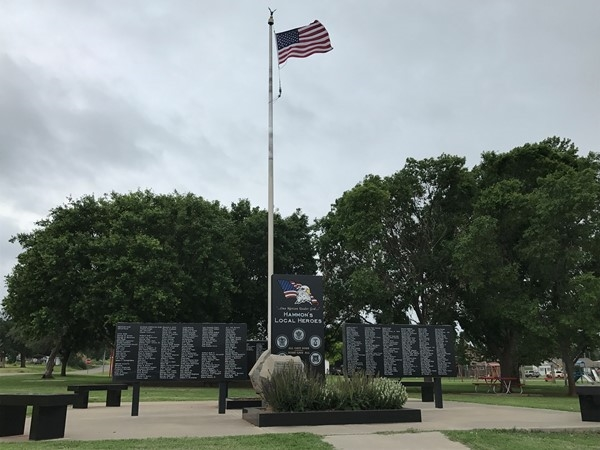 Hammon has a great park that honors local heroes