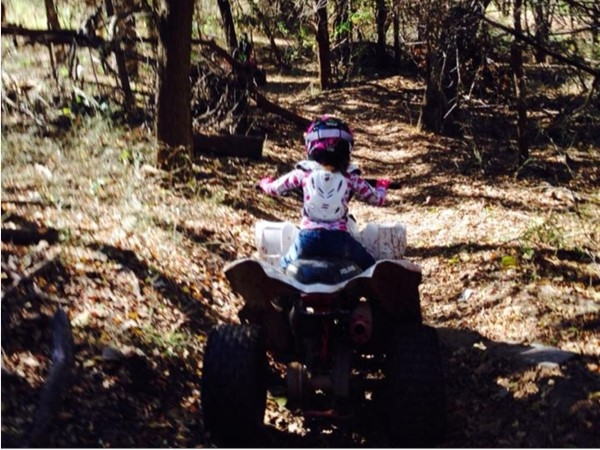 Summer fun on the bike trails located along the Caney River near Bartlesville