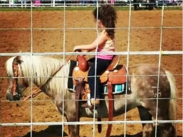 Our favorite little cowgirl and her pony ready to compete at the Copan Round Up Club