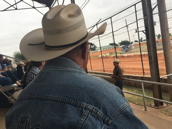 Cowboy church at the Beaver High School Rodeo in Beaver County in the Panhandle of OK