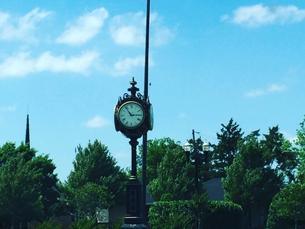 Be sure to check out the vintage clocks in Nichols Hills Plaza