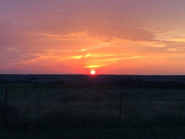 Hard to beat a Western Oklahoma sunset