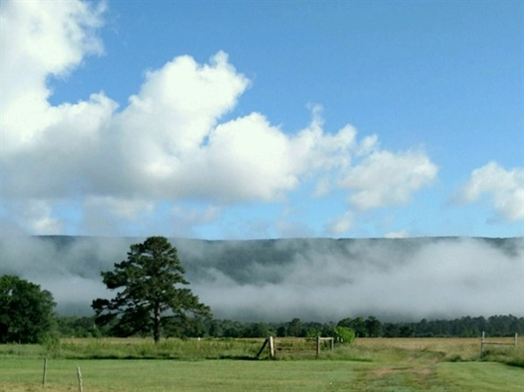 Buffalo Valley with low lying clouds