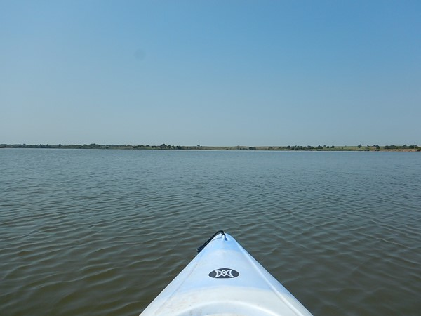 Kayaking on 335 acres of Clinton Lake just east of Canute