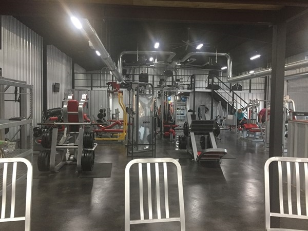 A glimpse of the inside of New Leaf Fitness & Nutrition