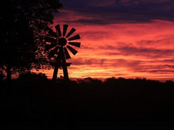 What an amazing sunset at Ft. Coffee in Southeast Oklahoma, Leflore County